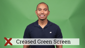 Creased Green Screen