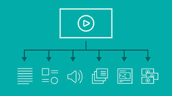 Diagram of videobreaking down into other pieces of content